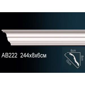 Карниз потолочный гладкий AB222