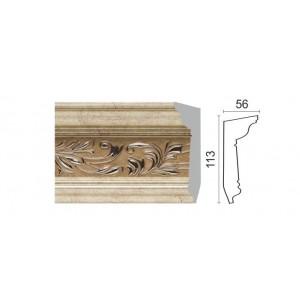 D129-59 Карниз потолочный (113х56х2400) 9