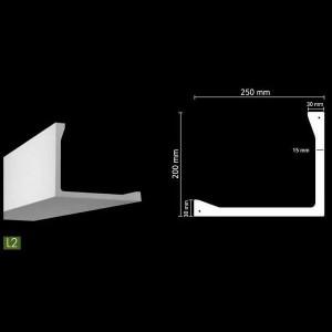 Гладкий потолочный профиль для скрытого освещения. L2 в г. Екатеринбург