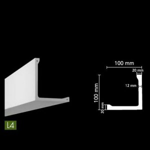 Гладкий потолочный профиль для скрытого освещения. L4 в г. Екатеринбург