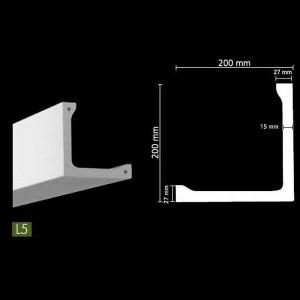 Гладкий потолочный профиль для скрытого освещения. L5 в г. Екатеринбург