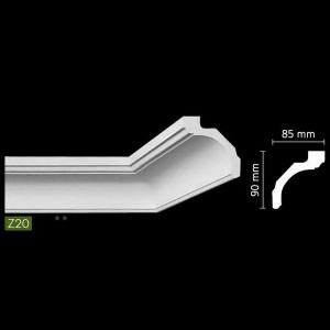 Гладкий потолочный профиль Z20